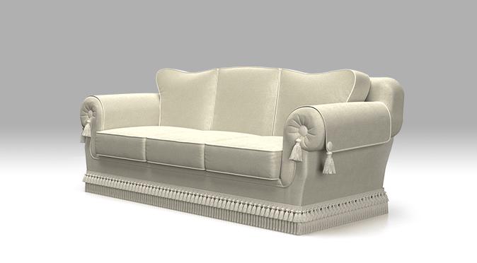 brenna salotti divano elegance bianco collezioni